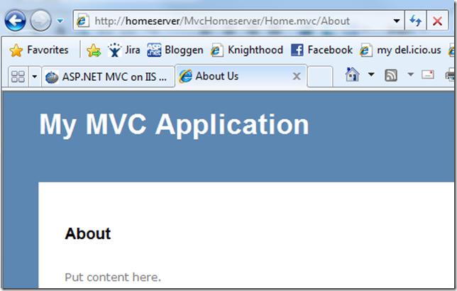 ASP.NET MVC in WHS