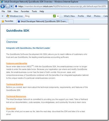Jeff Widmer's Blog - Where is the QuickBooks SDK?