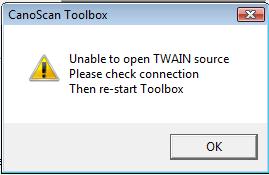 Image result for twain error canon scanner