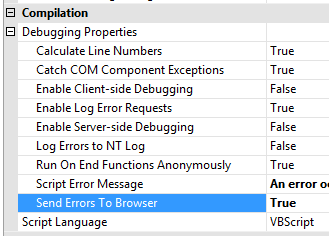 Jeff Widmer's Blog - Show detailed Classic ASP error messages in