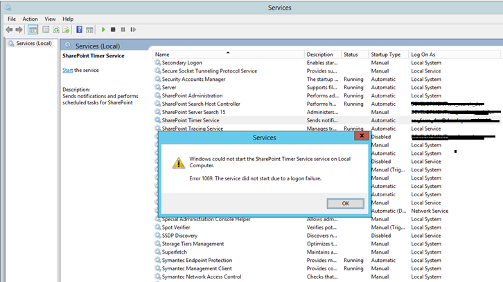 Runtime Debugger - Windows could not start the SharePoint