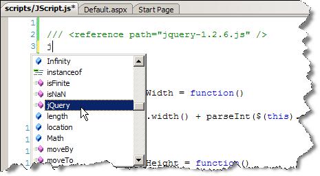 IntelliSense for JavaScript