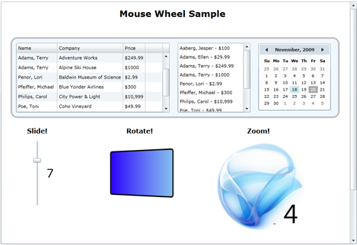 Silverlight 4 MouseWheel sample