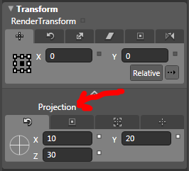 Blend 3 Projection editor