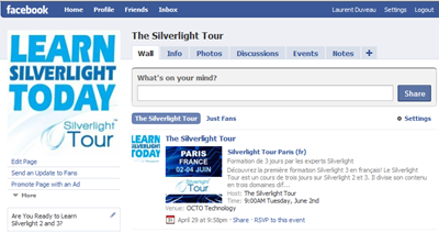 Silverlight Tour Facebook
