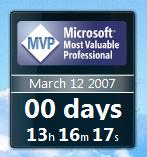 MVP Global Summit Countdown Sidebar Gadget