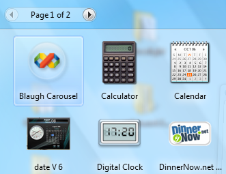 Mashup in Vista Gadget