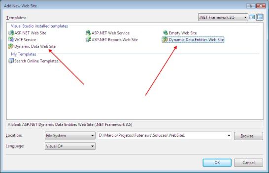 Oh boy! On .NET - Visual Studio 2008 missing Dynamic Data and other ...