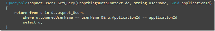 Converting a LInq Query to a function