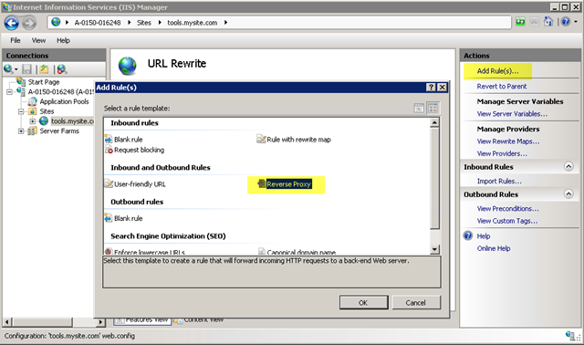 Scott Forsyth's Blog - Creating a Reverse Proxy with URL