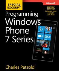 Programming Windows Phone 7 Series by Charles Petzold