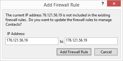 Add Firewall Fule