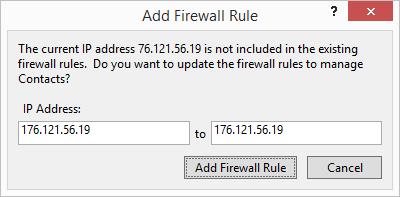 Add Firewall Fule