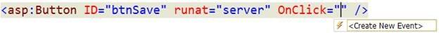 Muestra el manejador de eventos desde el editor de código
