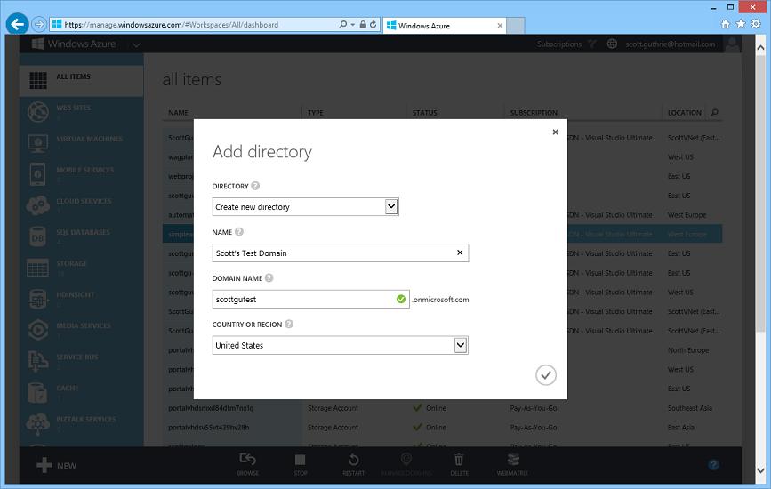 ScottGu's Blog - Windows Azure: New Virtual Machine, Active