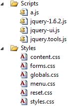 Estructura del proyecto de ejemplo