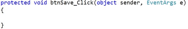 Muestra el code behind con el código del evento