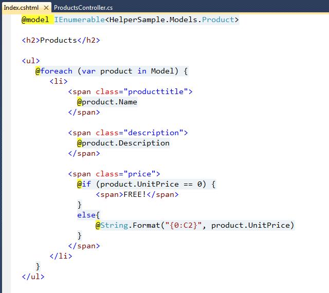 ScottGu's Blog - ASP NET MVC 3 and the @helper syntax within