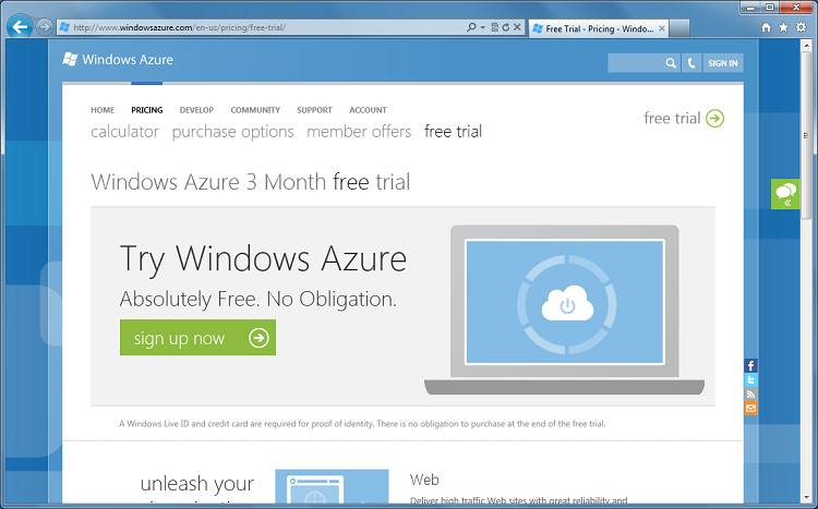ScottGu's Blog - Getting Started with Windows Azure