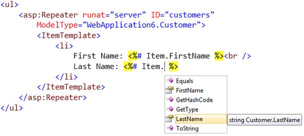 ScottGu's Blog - Strongly Typed Data Controls (ASP NET vNext Series)