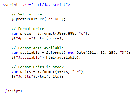 16 an example of integration with javascript 6. X.