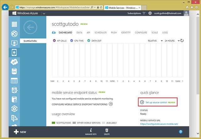 ScottGu's Blog - Windows Azure: Major Updates for Mobile Backend Development