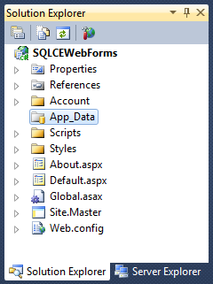ScottGu's Blog - VS 2010 SP1 and SQL CE