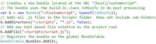 Código del Global.asax empaquetando archivos