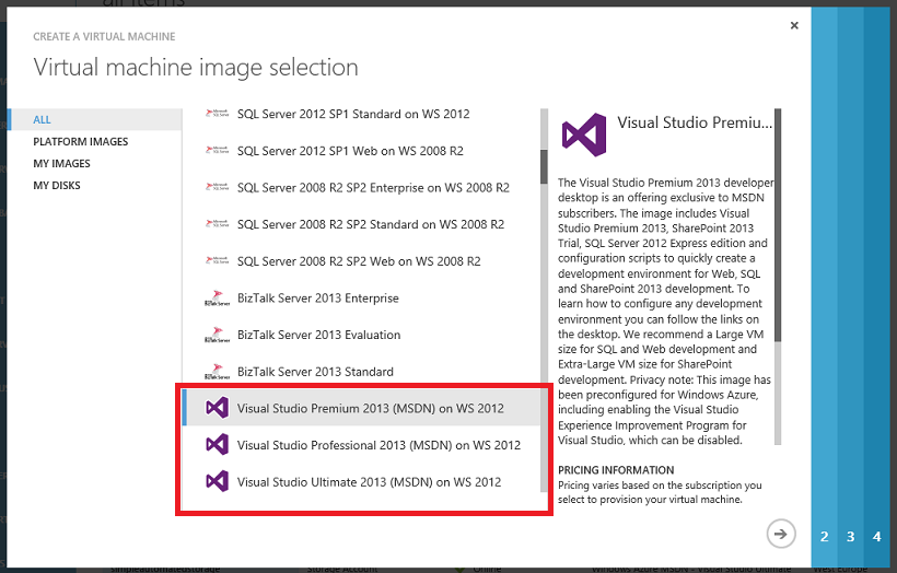 VM Visual Studio 2013