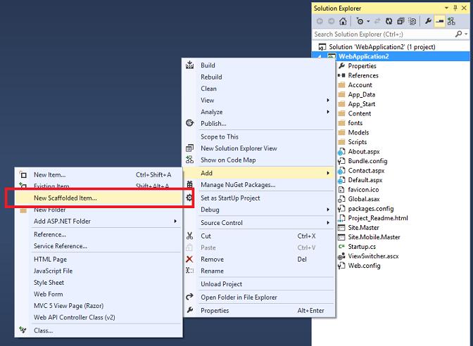 ASP NET Scaffolding In Visual Studio 2013 | ProgrammerGuide Net