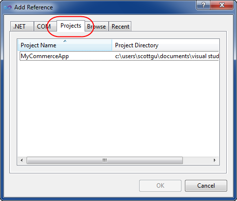 Add Reference Dialog Improvements (VS 2010 and .NET 4.0 Series)