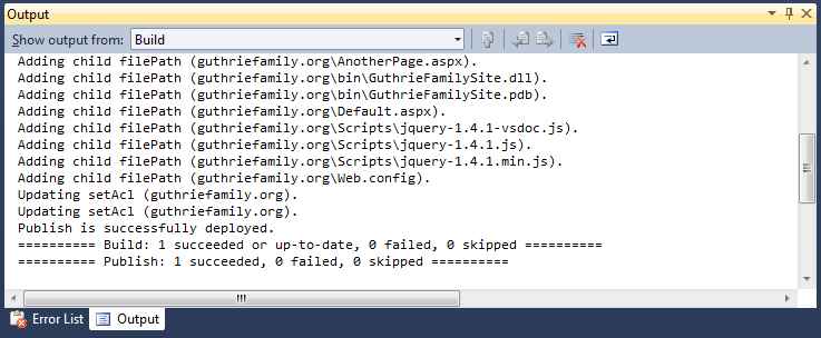 ScottGu's Blog - Automating Deployment with Microsoft Web Deploy