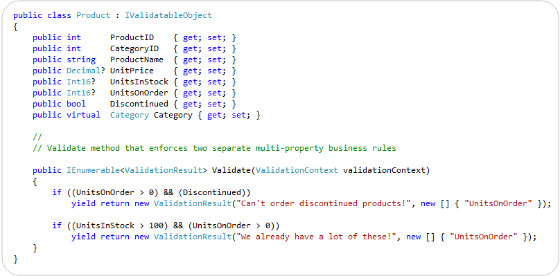 Validating data to few values mvc 4