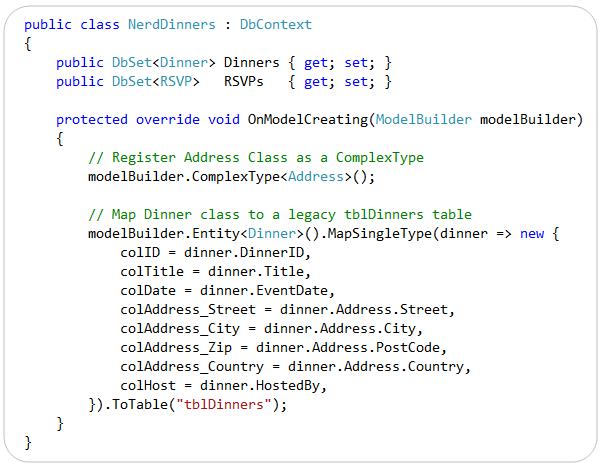 "ScottGu's Blog - Entity Framework 4 ""Code-First"": Custom Database"
