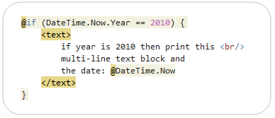 Razor Syntax Highlighting
