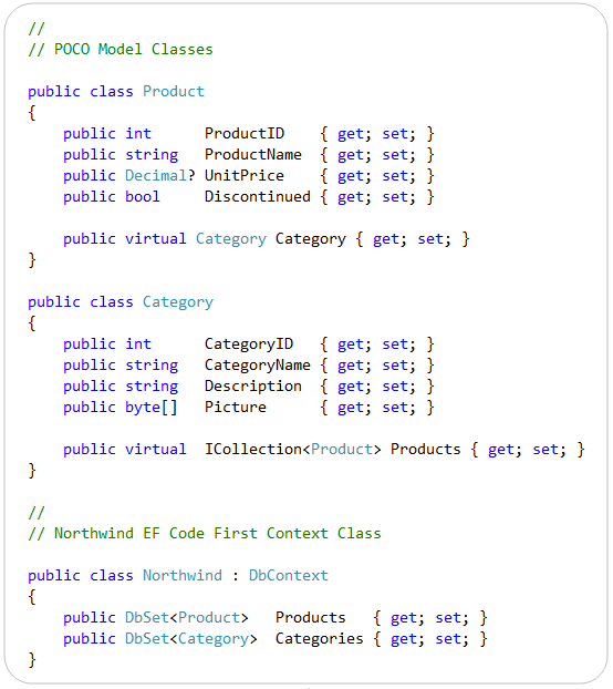 """ScottGu's Blog - Using EF """"Code First"""" with an Existing Database"""
