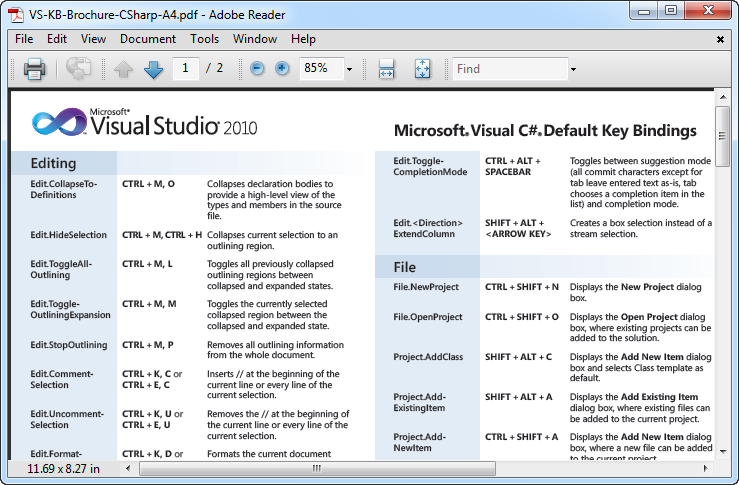 Visual Studio 2010 Keyboard Shortcuts
