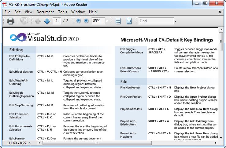 Visual Studio 2010 Keyboard Shortcuts
