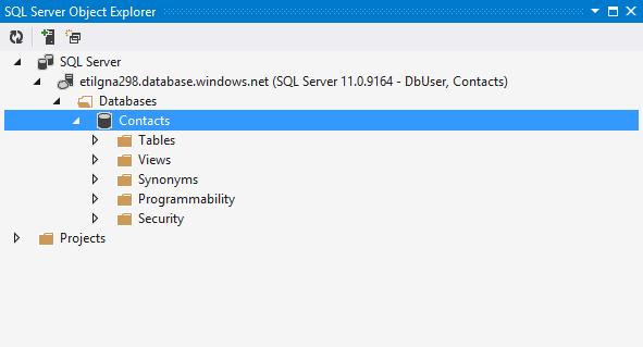 Visual studio Server Explorer