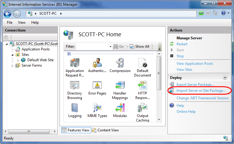 ScottGu's Blog - Automating Deployment with Microsoft Web Deploy