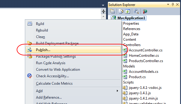 VS 2010 Web Deployment