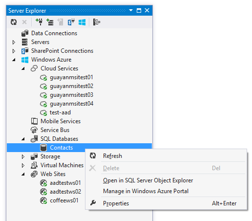 Firewall de SQL de Windows Azure desde Visual Studio