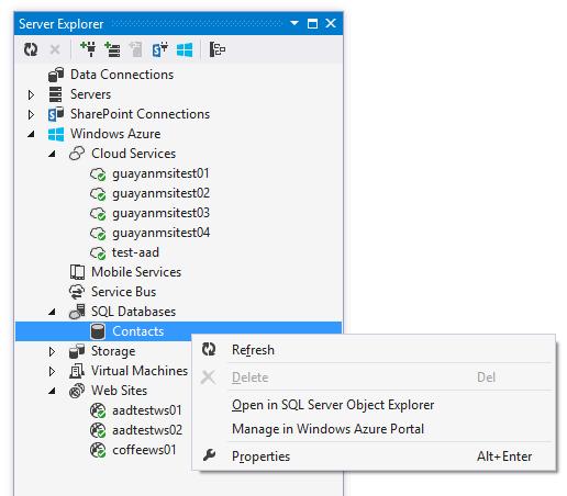 Firewall de SQL de Windows Azure desde Visual Studio