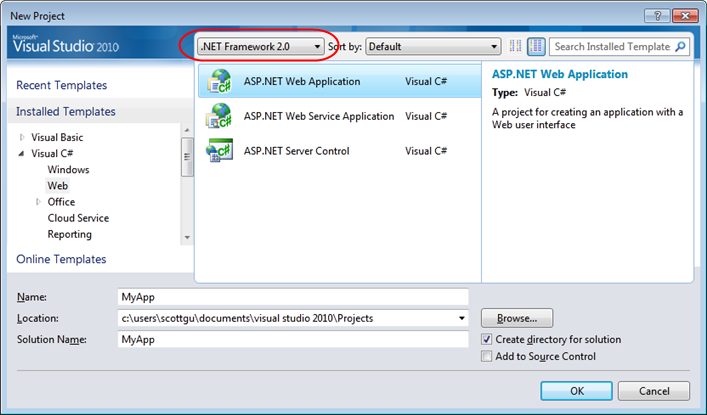 Multi-Targeting Support (VS 2010 and .NET 4 Series)