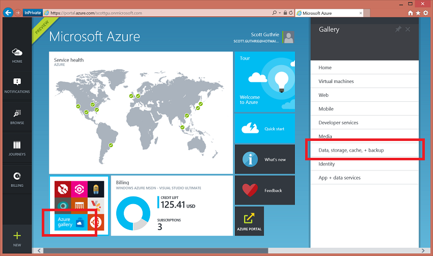 ScottGu's Blog - Azure: New DocumentDB NoSQL Service, New Search ...
