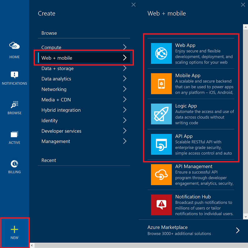 Scottgu 39 s blog announcing the new azure app service New website create free online
