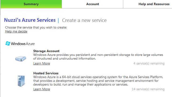 Figure 1.0 - Create Storage Account