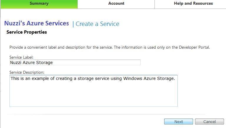 Sean Iannuzzi's Blog - How to Create a Windows Azure Storage