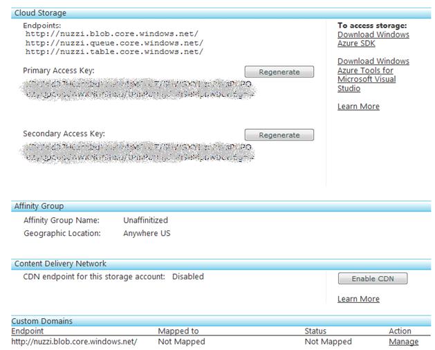 Figure 1.3 - Create Storage Account - Storage Account Summary