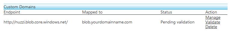 Figure 2.2 - Create the Custom Domain - Mapping